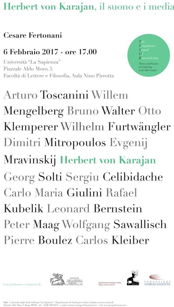 Manifesto TSSOR - Manifesto Karajan